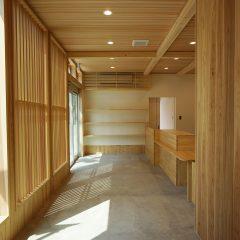 開放感のある待合室
